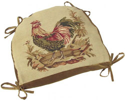 Hen Aubusson Chair Cushion
