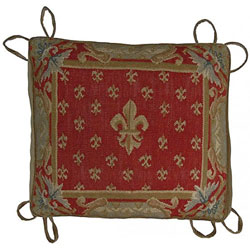 Fleur de Lis Aubusson Chair Cushion