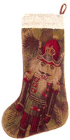 Old World Christmas Collection - Aubusson Stocking DL51 - Nutcracker
