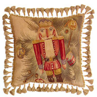 Old World Christmas Collection - Aubusson Pillow DL53 - Nutcracker