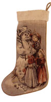 Old World Christmas Collection - Aubusson Stocking DL78 - Around the Snowman