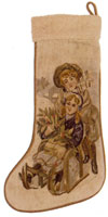 Old World Christmas Collection - Aubusson Stocking DL79 - To Grandma's House by Sled