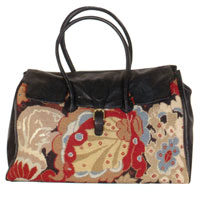 Tudor Oriental Needlepoint Daily Bag