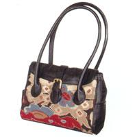 Tudor Oriental Needlepoint Handbag