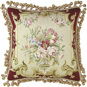 Silk Collection - Hand Woven Silk Aubusson Pillow PD202-5B