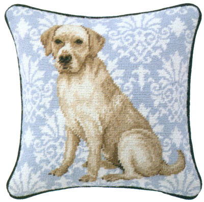 Golden Lab Needlepoint Pillow