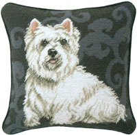 Westie Needlepoint Pillow